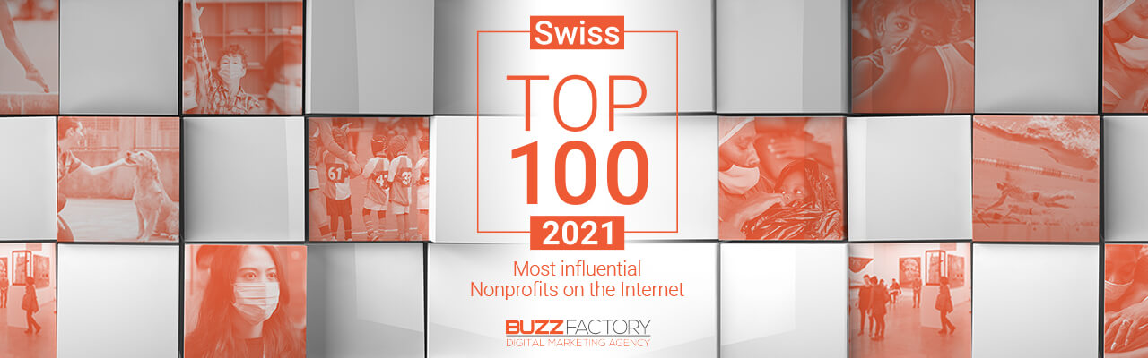 Top 100 Swiss Non-profits Most influentials on the Internet 2021