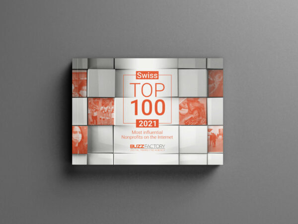 Top 100 Swiss Nonprofits Most influentials on the Internet 2021 - report cover